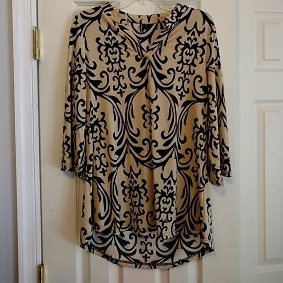 Zattcas Tops - 3/4 sleeve tunic blouse